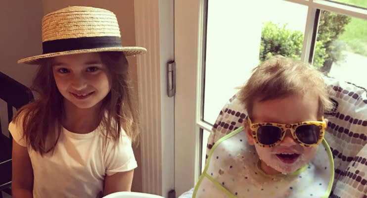 Ivanka Trump's children Arabella, age 6, and Theodore, 1.