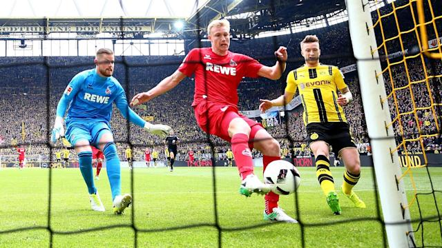 After the high of eliminating Bayern Munich from the DFB-Pokal in midweek, Borussia Dortmund failed to break down Cologne.