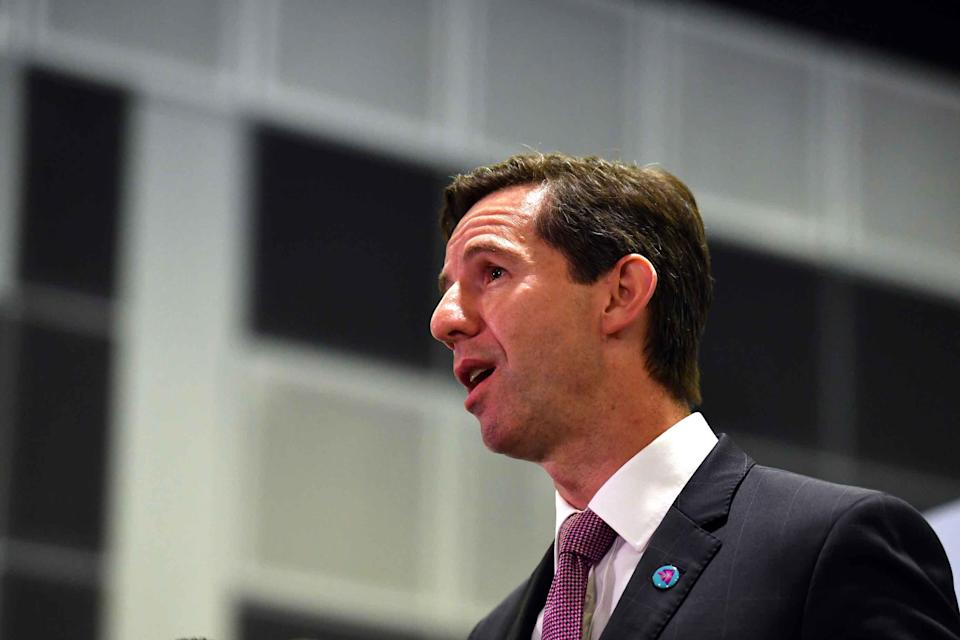 Minister for Trade Simon Birmingham in Singapore on Tuesday, November 13, 2018. <em>(Photo: AAP/Mick Tsikas)</em>