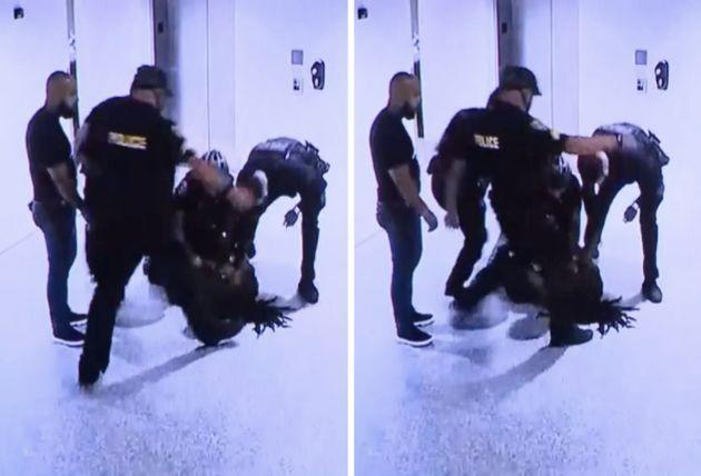Video shows one of the officers kicking Dalonta Crudup, 24, in his head as he lies on the ground in police custody. (Photo: Miami-Dade County State Attorney's Office)