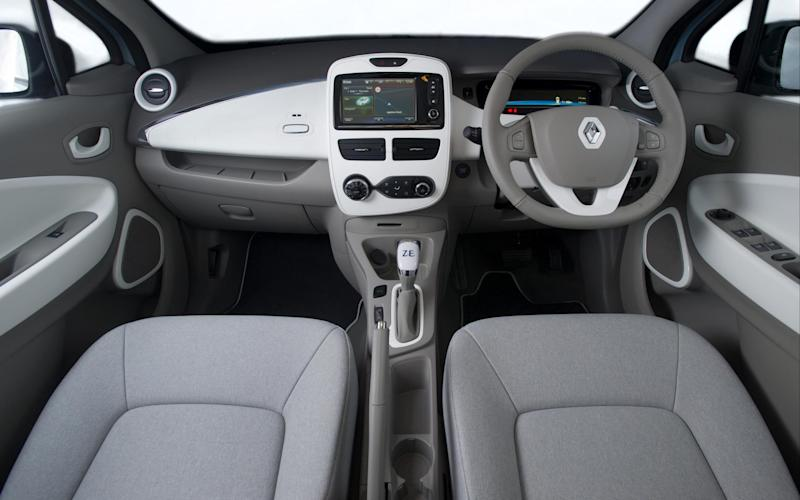 Renault Zoe electric car - interior