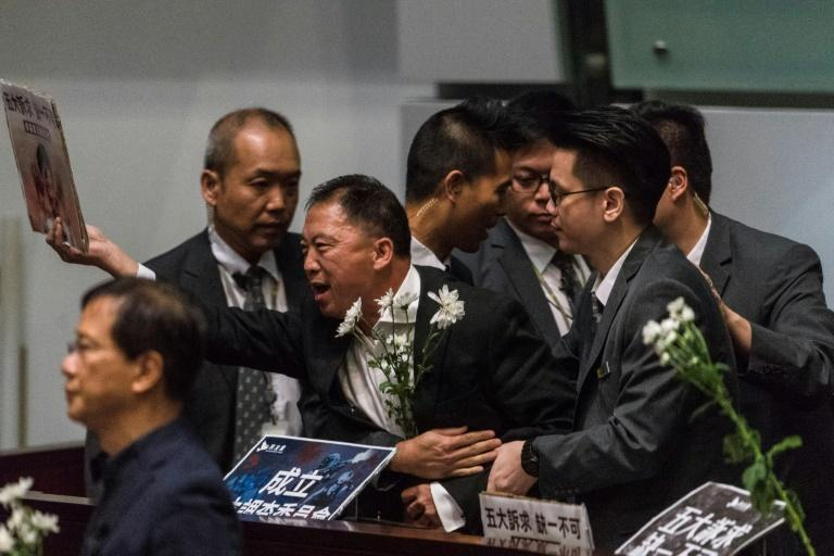 Hong Kong leader Carrie Lam was heckled for a second day by opposition lawmakers