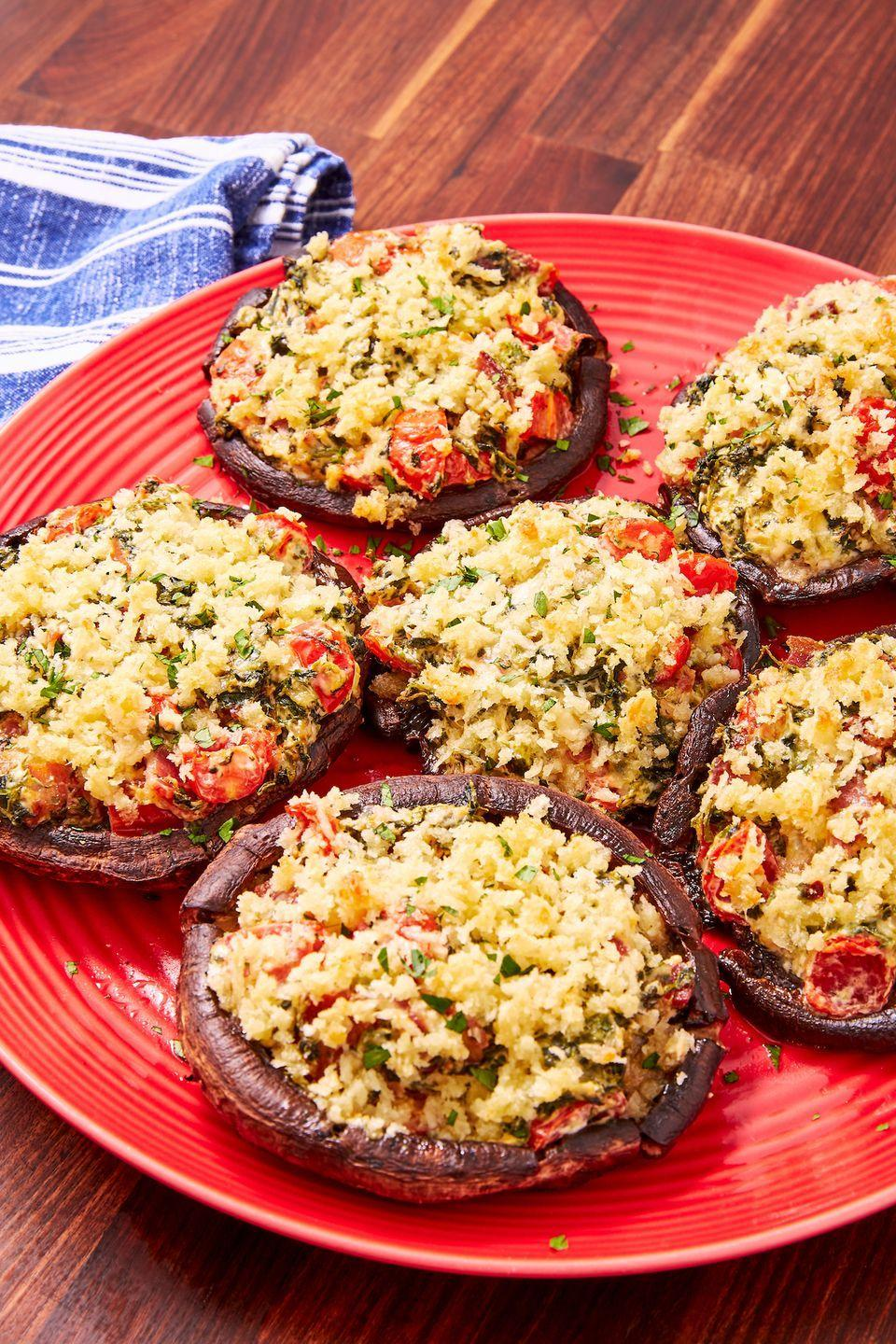"<p>You won't be able to stop eating them. </p><p>Get the recipe from <a href=""https://www.delish.com/cooking/recipe-ideas/a28581055/stuffed-portobello-mushrooms-recipe/"" rel=""nofollow noopener"" target=""_blank"" data-ylk=""slk:Delish"" class=""link rapid-noclick-resp"">Delish</a>.</p>"