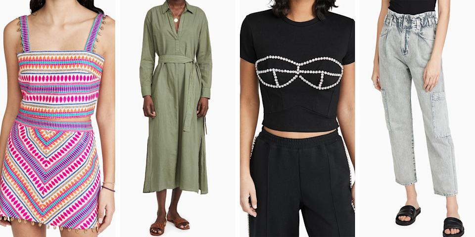 """<p>If it's been a minute (or over 525,600) since you last shopped for real world clothes, allow me to direct your attention to a secret sale going on at <a href=""""https://go.redirectingat.com?id=74968X1596630&url=https%3A%2F%2Fwww.shopbop.com%2F&sref=https%3A%2F%2Fwww.elle.com%2Ffashion%2Fshopping%2Fg36080635%2Fshopbop-spring-sale%2F"""" rel=""""nofollow noopener"""" target=""""_blank"""" data-ylk=""""slk:Shopbop"""" class=""""link rapid-noclick-resp"""">Shopbop</a> this week. From today, April 12 through April 16 shoppers can take up to 25 percent off their purchase by using promo code <strong>STYLE </strong>at checkout. Called <a href=""""https://go.redirectingat.com?id=74968X1596630&url=https%3A%2F%2Fwww.shopbop.com%2Fstyle-event%2Fbr%2Fv%3D1%2F63977.htm&sref=https%3A%2F%2Fwww.elle.com%2Ffashion%2Fshopping%2Fg36080635%2Fshopbop-spring-sale%2F"""" rel=""""nofollow noopener"""" target=""""_blank"""" data-ylk=""""slk:the Style Event"""" class=""""link rapid-noclick-resp"""">the Style Event</a>, the sale has a buy more, save more incentive where shoppers can take 15 percent off purchases totaling $200 or more, 20 percent off purchases over $500, and 25 percent off purchases over $800. </p><p>What makes this sale exciting goes beyond the fact that you can save on brands that rarely go on sale (think: <a href=""""https://go.redirectingat.com?id=74968X1596630&url=https%3A%2F%2Fwww.shopbop.com%2Fjacquemus%2Fbr%2Fv%3D1%2F27494.htm&sref=https%3A%2F%2Fwww.elle.com%2Ffashion%2Fshopping%2Fg36080635%2Fshopbop-spring-sale%2F"""" rel=""""nofollow noopener"""" target=""""_blank"""" data-ylk=""""slk:Jacquemus"""" class=""""link rapid-noclick-resp"""">Jacquemus</a>, <a href=""""https://go.redirectingat.com?id=74968X1596630&url=https%3A%2F%2Fwww.shopbop.com%2Fveja%2Fbr%2Fv%3D1%2F57365.htm&sref=https%3A%2F%2Fwww.elle.com%2Ffashion%2Fshopping%2Fg36080635%2Fshopbop-spring-sale%2F"""" rel=""""nofollow noopener"""" target=""""_blank"""" data-ylk=""""slk:Veja"""" class=""""link rapid-noclick-resp"""">Veja</a>, <a href=""""https://go.redirectingat.com?id=74968X1596630&url=https%3A%2F%2Fwww.shopbop.com%2Fgold"""