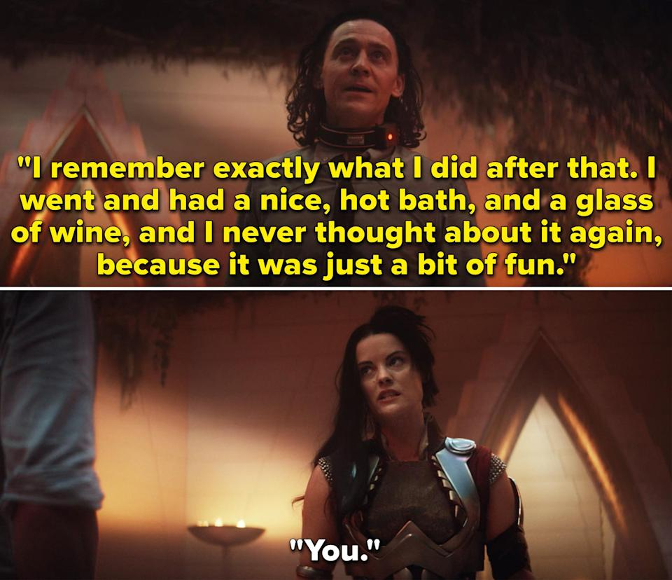 Loki saying he remembers the moment with Sif, but got over it very quickly