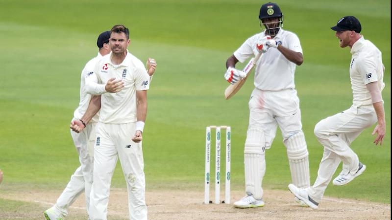 James Anderson dismissed Ravi Ashwin to reduce India to 5-110 - 84 runs shy of victory