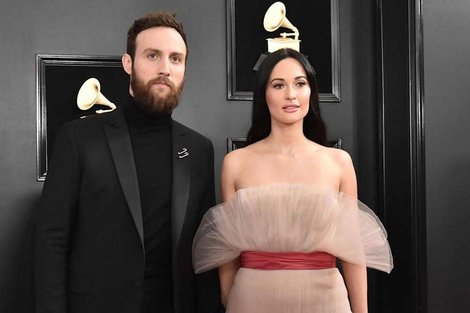 LOS ANGELES, CALIFORNIA - FEBRUARY 10: Ruston Kelly and Kacey Musgraves attend the 61st Annual Grammy Awards at Staples Center on February 10, 2019 in Los Angeles, California. (Photo by David Crotty/Patrick McMullan via Getty Images)