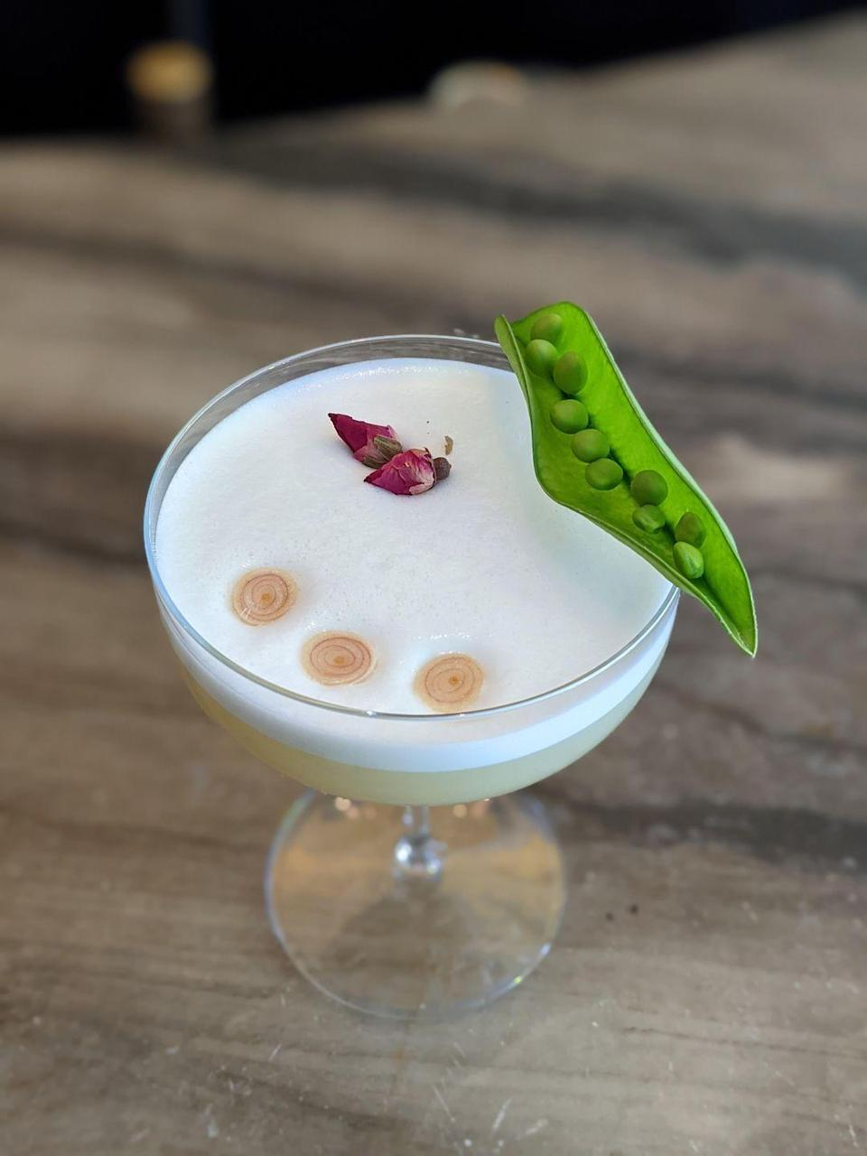 <p>Created by Rami Levy, the bar manager at Bustan in New York City, this whimsical cocktail features a few spring garden delights: snap peas, meyer lemon, and lemongrass.</p><p><strong>Ingredients:</strong></p><p>2 ounces Rosolio di Bergamotto</p><p>1 ounce Vodka Kāstra Eliōn</p><p>3/4 ounce aquafaba</p><p>3/4 ounce meyer lemon juice</p><p>3 snap peas</p><p>2 thin slices lemongrass</p><p>rose water</p><p><strong>Directions:</strong></p><ol><li>Combine the lemongrass and snap peas in a shaker and lightly muddle.</li><li> Add the rest of the ingredients with a dash of rose water.</li><li>Shake, add ice and shake again.</li></ol>