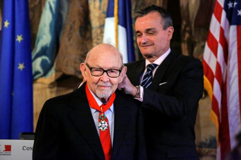 French ambassador to the United States Gerard Araud awards Rosenberg the French Legion of Honor medal in New York