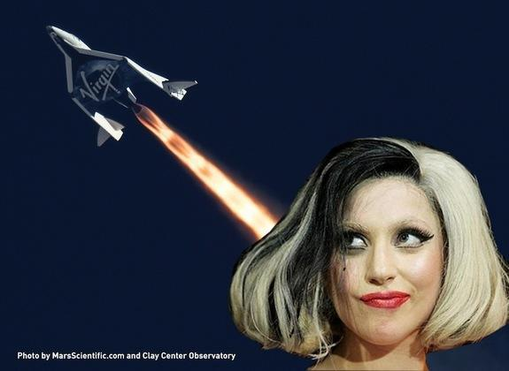 Pop star Lady Gaga has her sights set on a trip to space aboard Virgin Galactic's SpaceShipTwo.