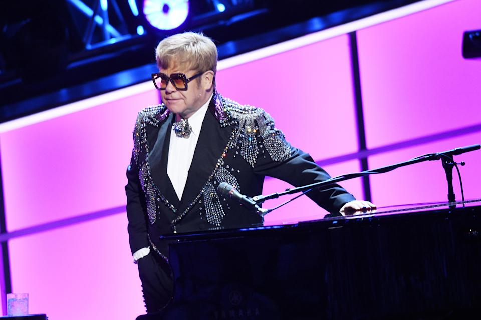 Elton John is rumoured to be performing at Prince Harry's nuptials. [Photo: Getty]