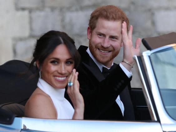 Meghan Markle is a fan of the messy bun and even sported the look on her wedding (Getty)