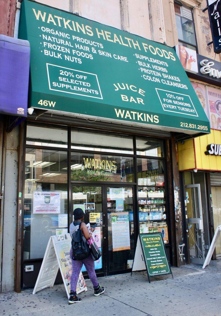Street with business in Harlem