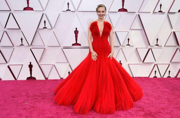 PHOTO: Amanda Seyfried arrives to the 93rd Academy Awards, at Union Station, in Los Angeles, April 25, 2021. (Chris Pizzello/Pool via Reuters)
