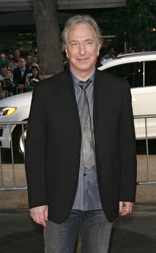 "<a href=""http://movies.yahoo.com/movie/contributor/1800021960"">Alan Rickman</a> at the New York premiere of <a href=""http://movies.yahoo.com/movie/1809791044/info"">Harry Potter and the Half-Blood Prince</a> - 07/09/2009"
