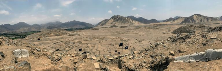 A panaoramic view of the Caral archeological site -- the oldest city in the Americas -- in Peru