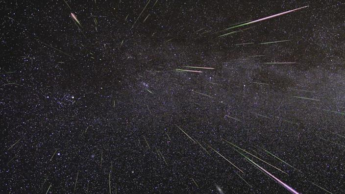 "The Perseid meteor shower. <p class=""copyright""><a href=""https://blogs.nasa.gov/Watch_the_Skies/tag/meteor/"" rel=""nofollow noopener"" target=""_blank"" data-ylk=""slk:NASA/JPL-Caltech"" class=""link rapid-noclick-resp"">NASA/JPL-Caltech</a></p>"