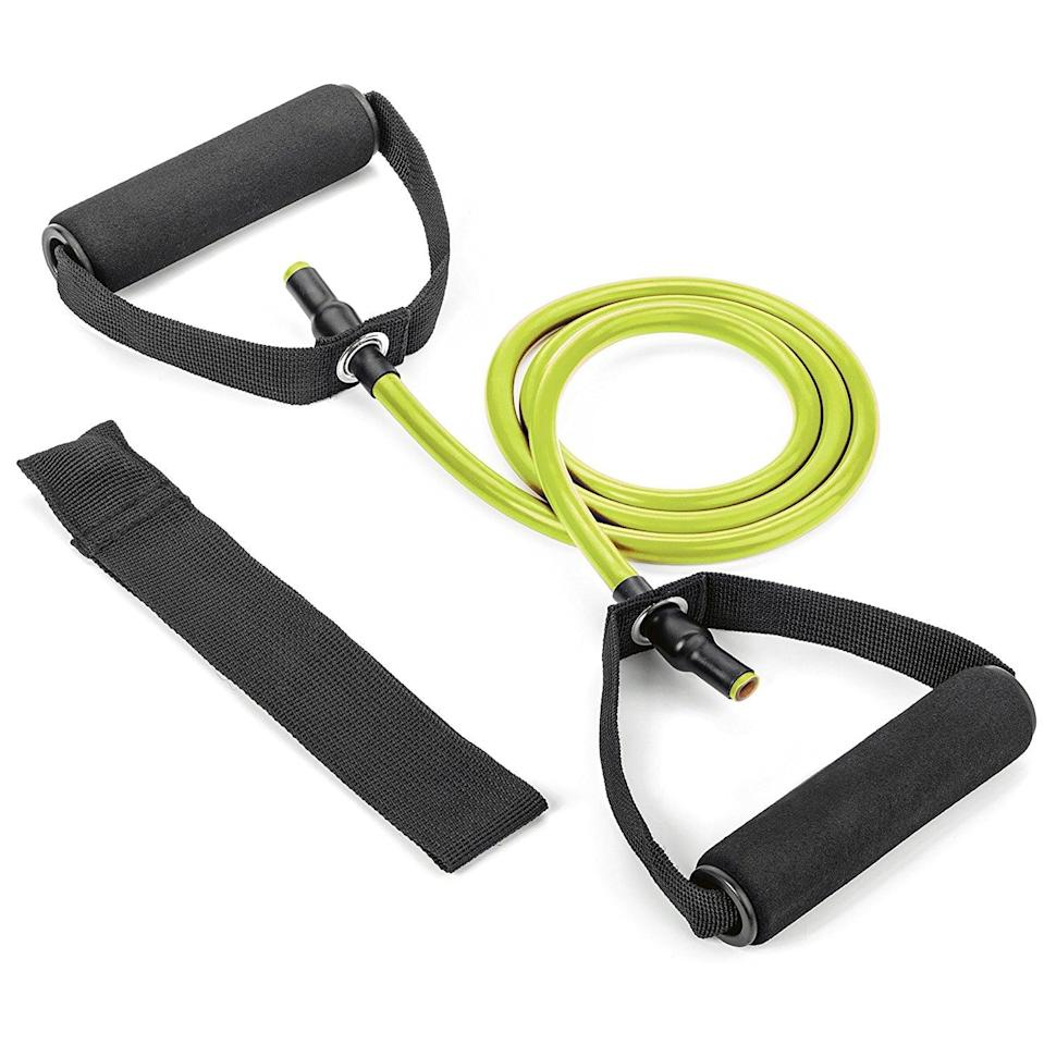 <p>This <span>Tribe Single Resistance Band</span> ($12) features high elasticity and extra-thick silicone bands that won't snap or dry out.</p>