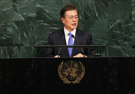Moon at UN: S. Korea not seeking collapse of N. Korea