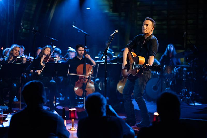 Bruce Springsteen performed with an orchestra in his barn in Colts Neck, New Jersey, for