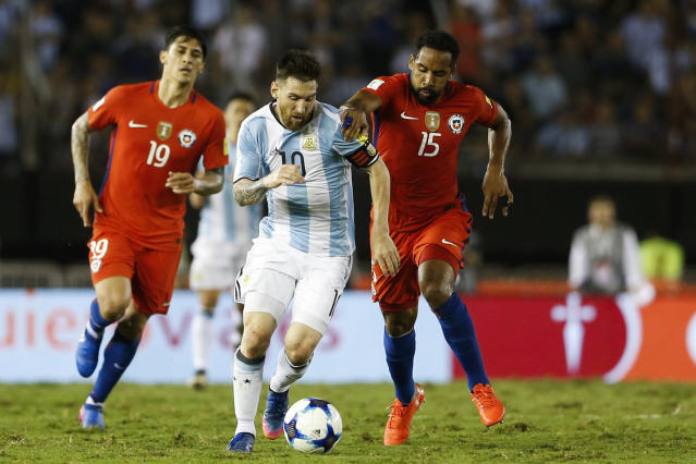 Argentina and Chile are both in danger of missing the World Cup. (Getty)