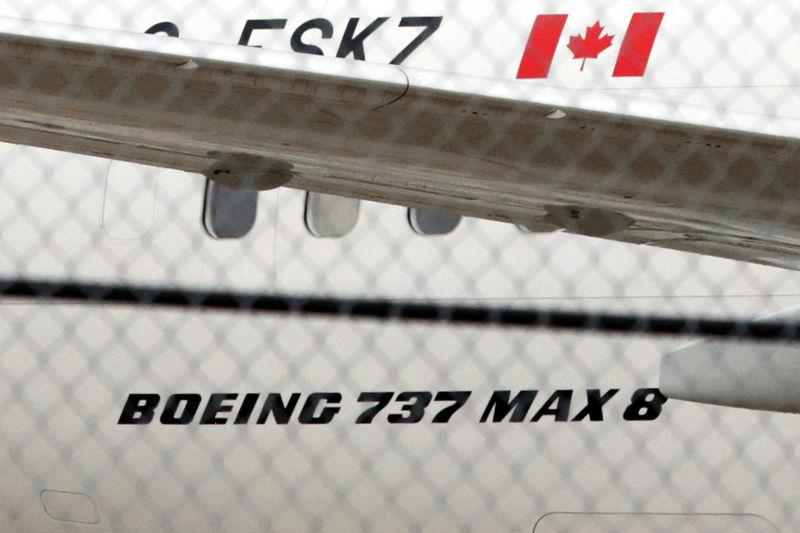FILE PHOTO: An Air Canada Boeing 737 MAX 8 aircraft is seen on the ground at Toronto Pearson International Airport in Toronto