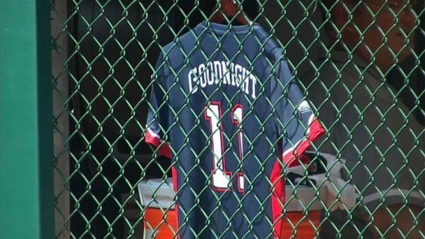 PHOTO: The late Little League player Mason Goodnight's jersey is pictured here. (ESPN)