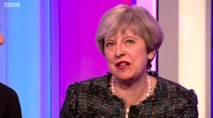 Theresa May was called 'outdated' for her comments over jobs in the home (BBC)