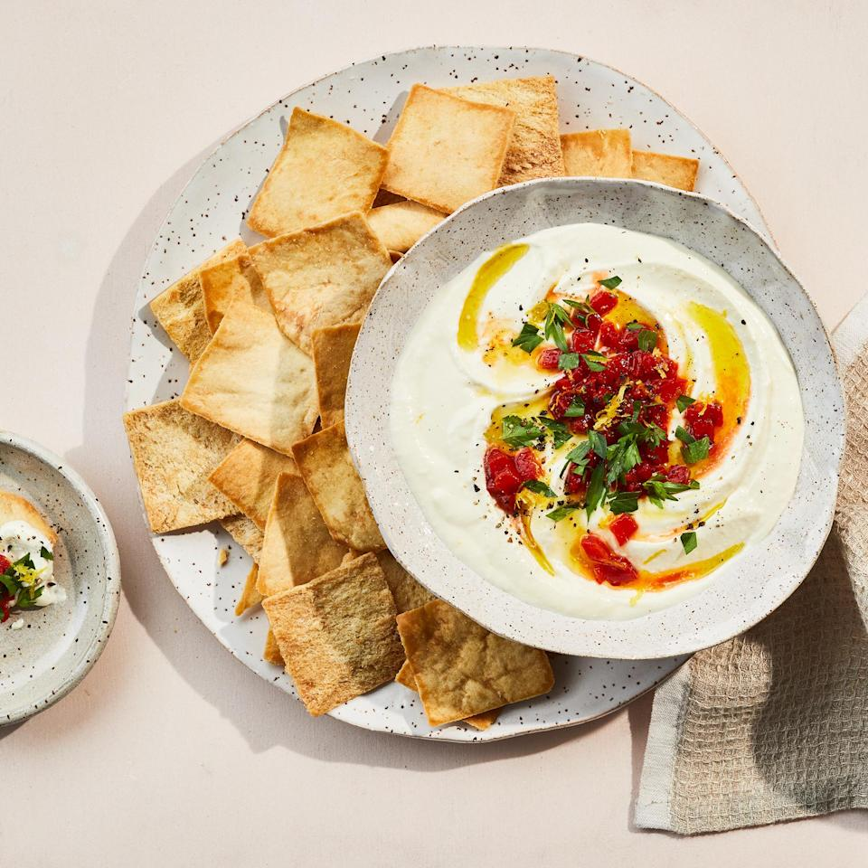 <p>This super-creamy whipped feta dip is savory with just a hint of sweetness from honey. This healthy dip is perfect for veggies, whole-grain crackers or bread.</p>