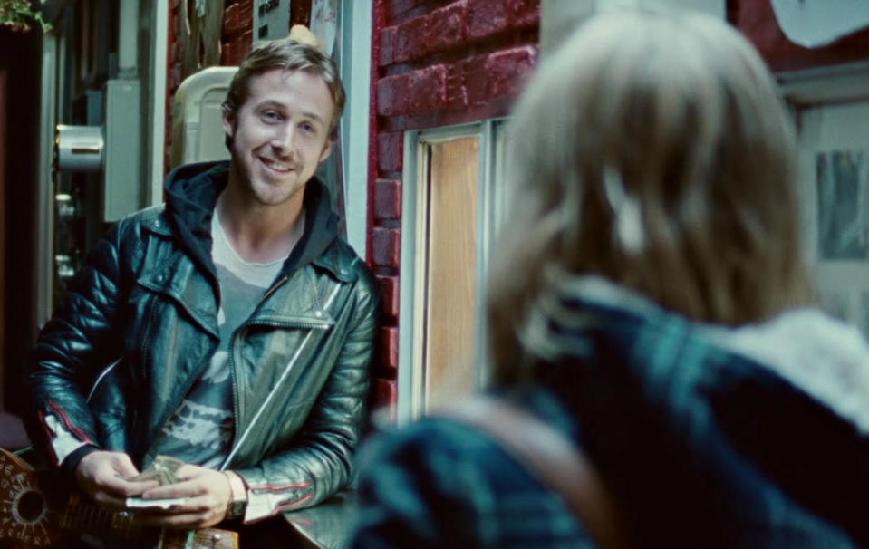 <p>Many people found this movie depressing. (OK, it was, I stayed up all night blinking away tears on a redeye to London.) But I was also so distracted by Gosling's overall look. Give a hot guy a five o'clock shadow and a badass leather jacket and it's a wrap. After years of thinking the actor's hot factor was overhyped, I finally got it. (Photo: The Weinstein Company)</p>