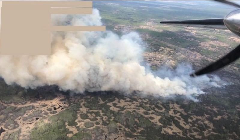 Fire HWF042, is located approximately 20 km south of the Town of High Level.(Social Media via Alberta Wildfire)