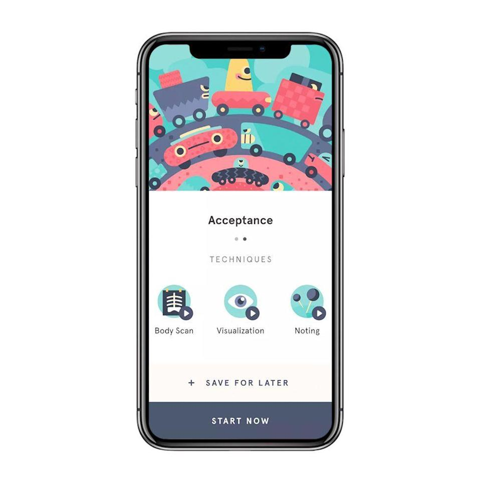 """<p><strong>Headspace</strong></p><p>headspace.com</p><p><strong>$12.99</strong></p><p><a href=""""https://www.headspace.com/buy/gift"""" rel=""""nofollow noopener"""" target=""""_blank"""" data-ylk=""""slk:Shop Now"""" class=""""link rapid-noclick-resp"""">Shop Now</a></p><p>If you know someone who's expressed interest in meditation, a gift subscription to the Headspace app is a thoughtful way to get them going.</p><p>The app features hundreds of guided meditations not only for general use, but also for sleep, anxiety, or focus that can be accessed at any time. It even lets users track their progress and sync up their meditation minutes to their Apple Health app if they're an iPhone user.</p>"""