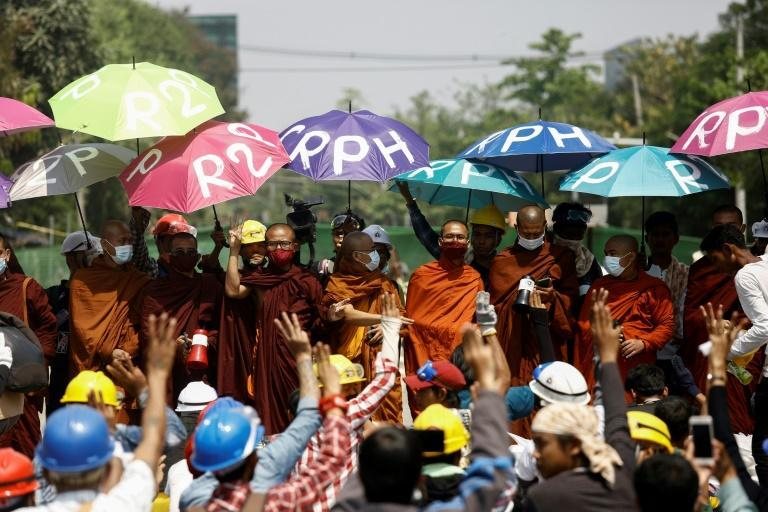 Myanmar military authorities are cracking down with increasing severity on daily protests against their February 1 coup, with at least 70 people killed according to the UN