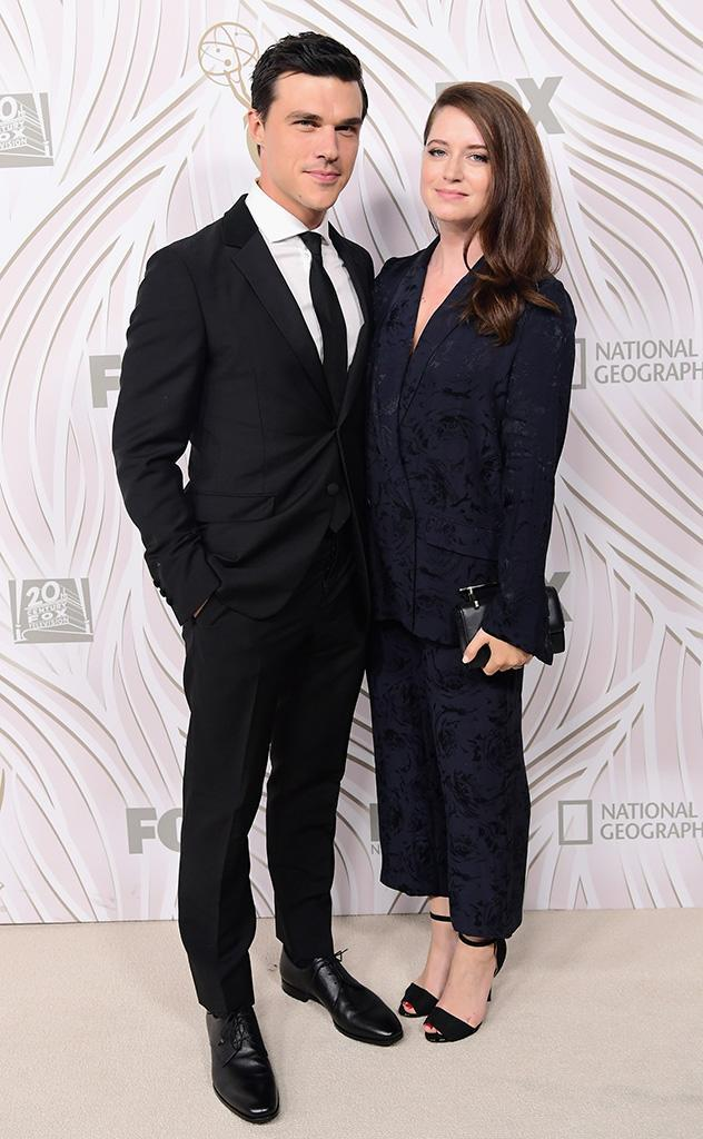 <p>Finn Wittrock and Sarah Roberts at the bash for the Fox Broadcasting Co., Twentieth Century Fox Television, FX, and <em>National Geographic</em>. (Photo: Emma McIntyre/Getty Images) </p>