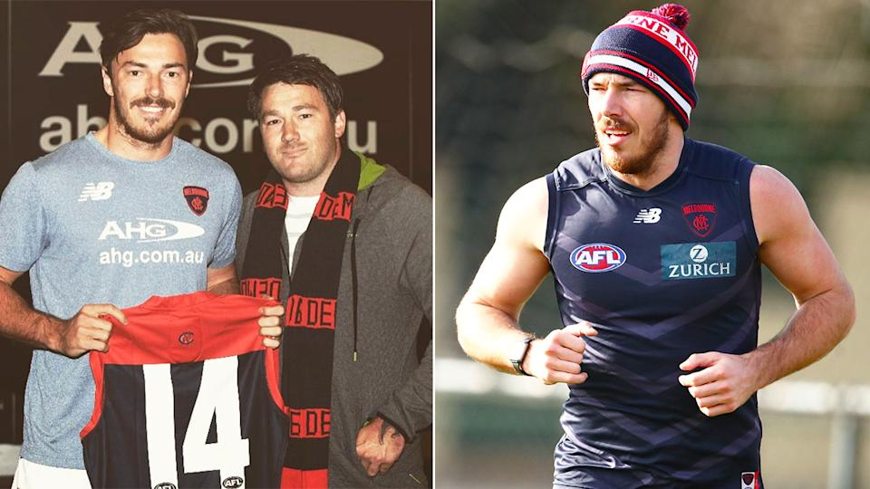 Pictured here, Michael Hibberd with his brother Geoff, who has gone missing.