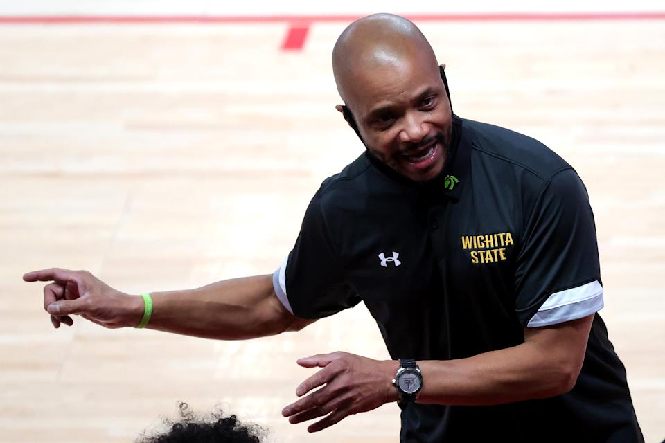 Head coach Isaac Brown of the Wichita State Shockers