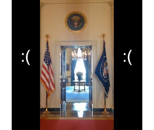 Portrait-mode screenshot of White House video