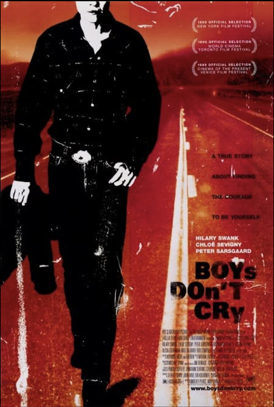 """<p>This gut-wrenching film is based on the true story of Brandon Teena, a trans teen who was sexually assaulted and murdered in 1993. He begins a romance with a cis woman in their close-minded Nebraska town before violence finds him, in a heartbreaking story that will stay with you.</p><p><a class=""""link rapid-noclick-resp"""" href=""""https://www.amazon.com/Boys-Dont-Cry-Hilary-Swank/dp/B001H1UQZU?tag=syn-yahoo-20&ascsubtag=%5Bartid%7C10055.g.36107109%5Bsrc%7Cyahoo-us"""" rel=""""nofollow noopener"""" target=""""_blank"""" data-ylk=""""slk:WATCH NOW"""">WATCH NOW</a></p>"""