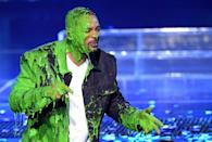 <p>Will Smith gets slimed onstage at Nickelodeon's 2019 Kids' Choice Awards at Galen Center on March 23, 2019 in Los Angeles, California.</p>