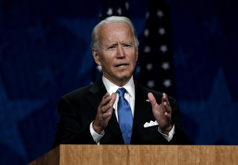 Joe Biden vowed to battle the pandemic from 'day one' in office if he wins the US presidential election