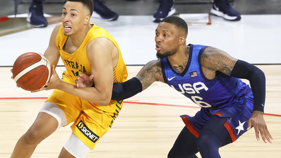 Dante Exum has impressed for the Boomers after returning from a lengthy injury layoff. (Photo by Ethan Miller/Getty Images)