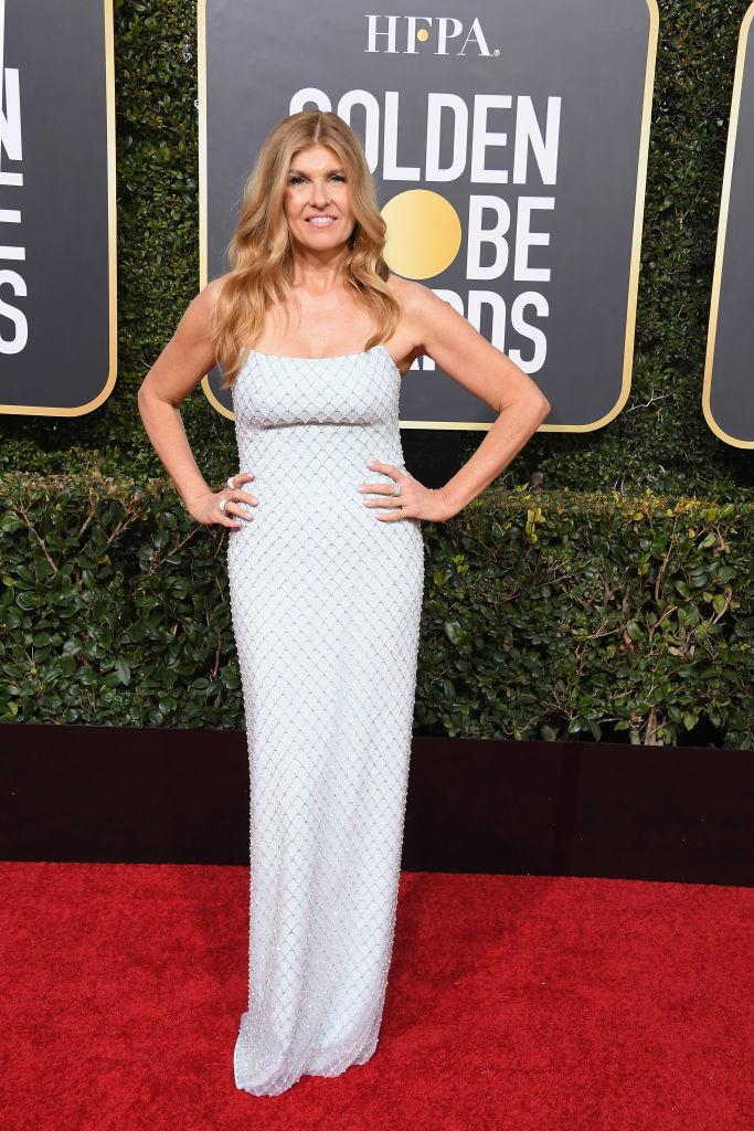 <p>Connie Britton, the lead actress on Bravo's series <em>Dirty John</em>, attends the 76th Annual Golden Globe Awards at the Beverly Hilton Hotel in Beverly Hills, Calif., on Jan. 6, 2019. (Photo: Getty Images) </p>