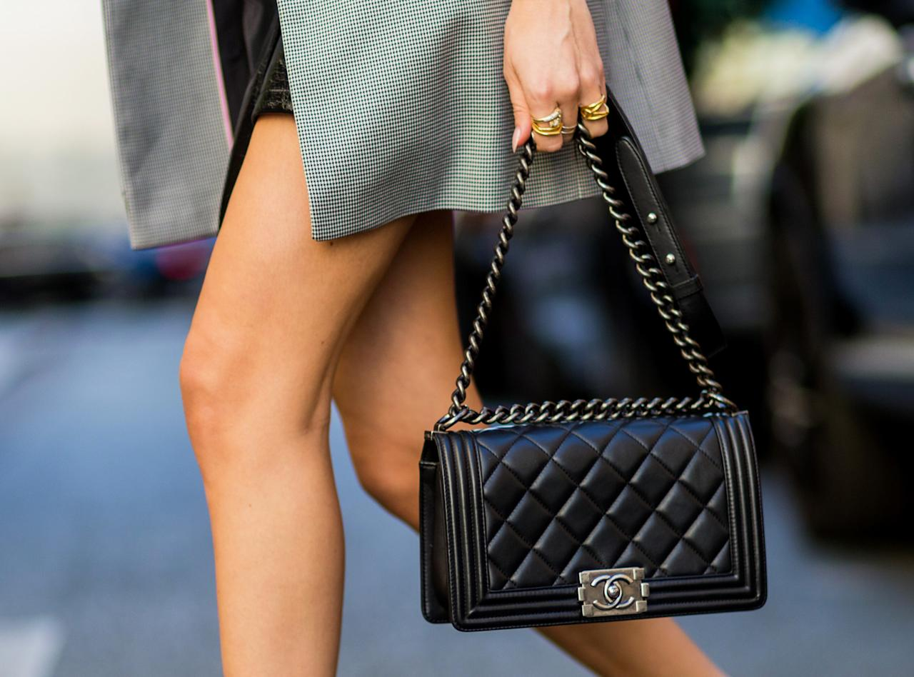 """<p>""""They're expensive, but most girls will save up for one. Chanel is the most classic.""""</p>"""