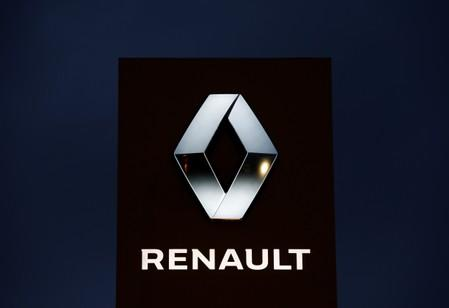 The logo of French car manufacturer Renault is seen at a dealership of the company in Illkirch-Graffenstaden near Strasbourg