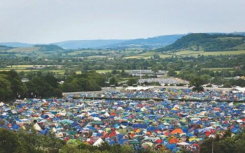 Fields of tents at Glastonbury - Credit:  Jim Dyson/ Getty Images