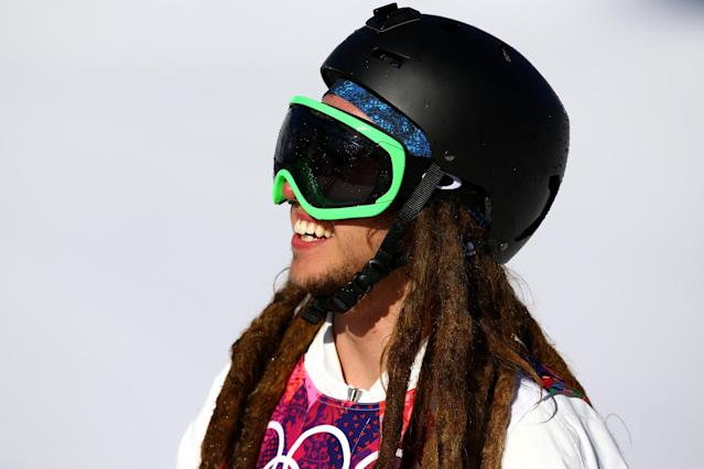 SOCHI, RUSSIA - FEBRUARY 13: Henrik Harlaut of Sweden smiles after his run in the Freestyle Skiing Men's Ski Slopestyle Qualification during day six of the Sochi 2014 Winter Olympics at Rosa Khutor Extreme Park on February 13, 2014 in Sochi, Russia. (Photo by Al Bello/Getty Images)
