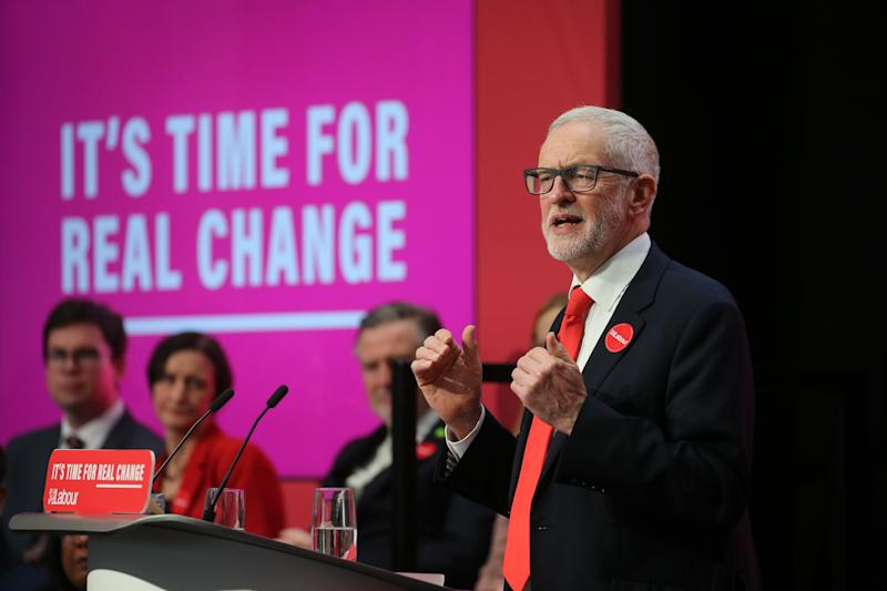 Jeremy Corbyn speaks during the launch of the Labour Party manifesto in Birmingham for the General Election. Picture dated: Thursday November 21, 2019