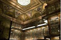 <p>The Morgan Library & Museum—which is both a New York City Landmark and a National Historic Landmark—opened to the public in 1924, in accordance with J.P. Morgan's will. Charles Follen McKim, of notable architectural firm McKim, Mead and White, was behind the design of this library, which is home to famed works by Charlotte Brontë, Lord Byron, and Charles Dickens, to name a few.</p>