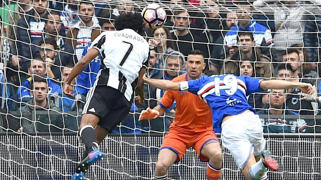 Sampdoria's run of seven Serie A matches without defeat came to an end with a 1-0 reverse against Juventus.