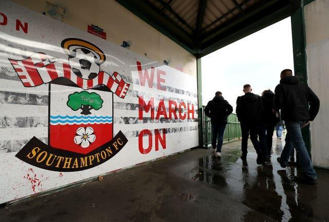 Fans were also back at Southampton for the visit of Leeds